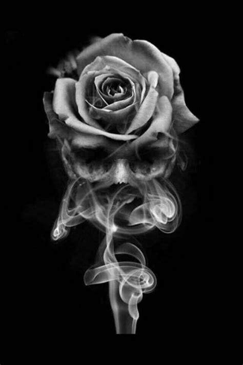 Pin by ChinaRose on Art   Dark Art; Skulls, Gothic, etc...   Skull rose tattoos, Skull tattoos