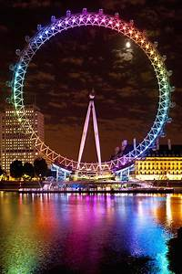 Big Wheel Aka London Eye Lit Up With Photograph by Axiom