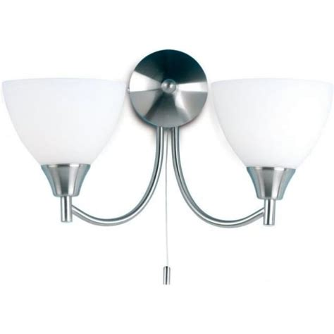 endon 1805 2sc alton chrome 2 light switched wall light