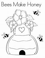 Honey Coloring Bees sketch template