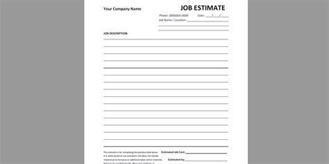 estimate forms pdf every free estimate template you need the 14 best