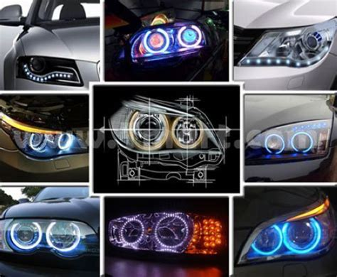 42 led car eye ring light headlight white tmart