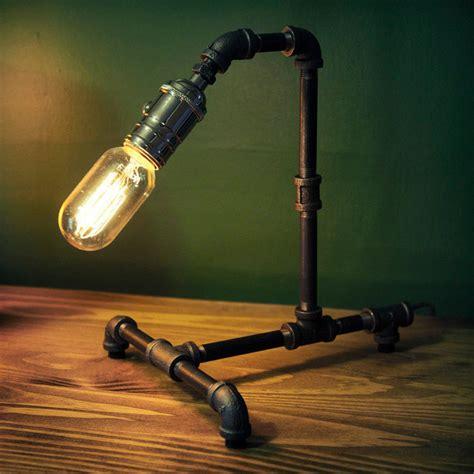 edison bulb desk l vintage industrial retro style steel pipe desk table l
