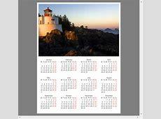 Luxury Illustration Calendar Creator for Windows 10