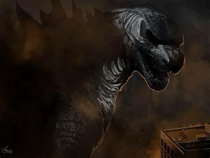 Godzilla Fan Movies Render Painting Ending Gifs