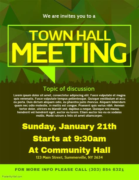 copy  town hall meeting flyer postermywall