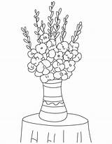 Bulb Flower Template Coloring Pages Gladiolus sketch template