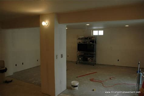 Installing Drywall For Your Finished Basement Blackout Blinds For Upvc Doors Big Mike Xt Blind Window Decor White Wooden Everyday Sales 2 Venetian French Door Treatments