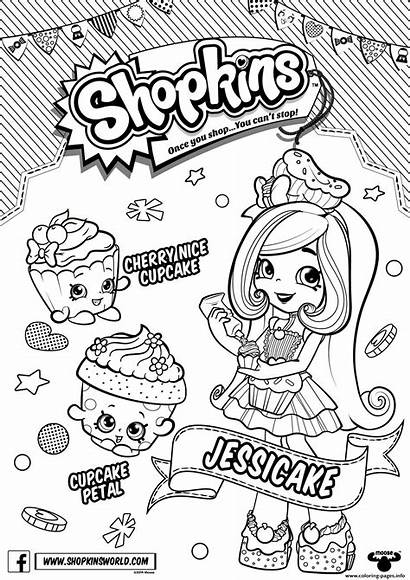 Coloring Shopkins Shoppies Jessicake Pages Printable