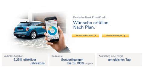 deutsche bank autokredit deutsche bank autokredit alle kosten und konditionen