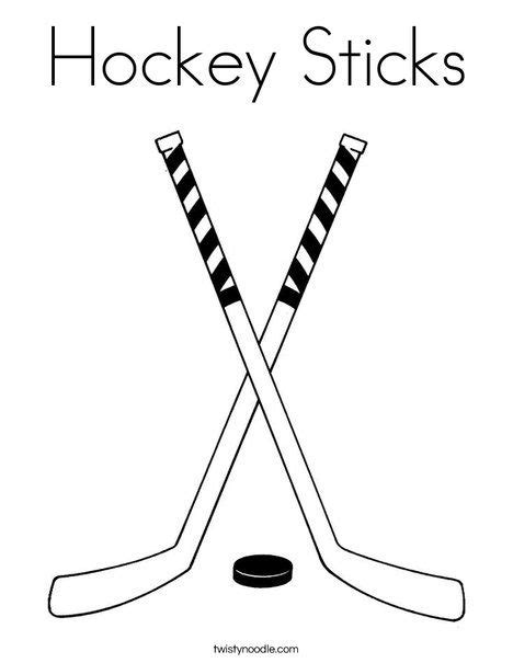 Hockeystick Adidas Kleurplaat by Hockey Sticks Coloring Page Twisty Noodle Canada Ideas