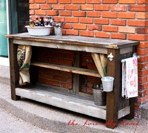 The Friendly Home: {backyard redo} Outdoor Bar from
