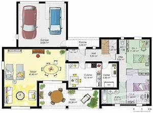 maison mediterraneenne 2 detail du plan de maison With plan de maison a etage 3 vaste villa detail du plan de vaste villa faire