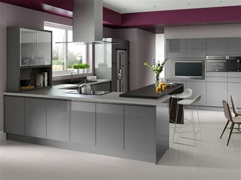modern gloss kitchen cabinets grey and black kitchen cabinets high gloss cabinets 7624