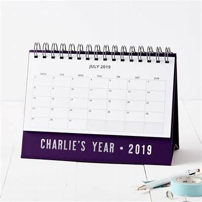 Desk Calendar Personalised Contemporary Notonthehighstreet