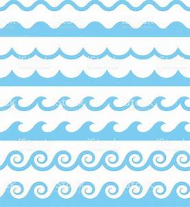 Vector Water Waves Patterns stock vector art 579149782 ...