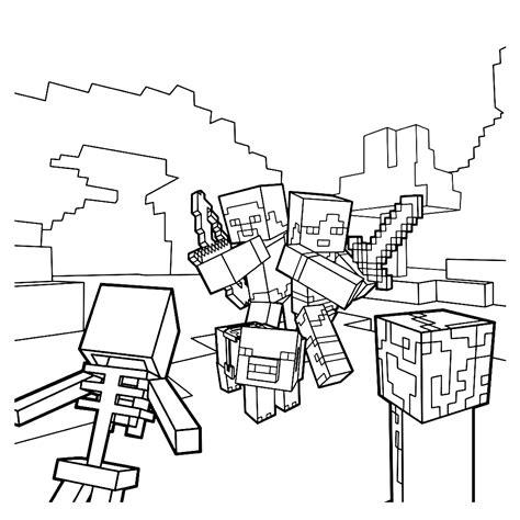Coole Minecraft Witch Kleurplaat by Leuk Voor Aangevallen Door Skeletten