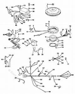 Evinrude Outboard Parts By Hp 100hp Oem Parts Diagram For