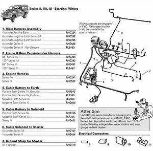 Land Rover Series Ii  Iia   U0026 Iii Wiring Harnesses  Cables   U0026 Connectors