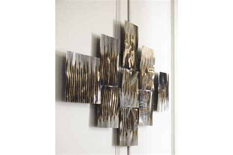 Oeneus Wall Decor in Silver/Brown/Gold Finish by Ashley