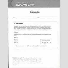 Top Line Math Diagnostic Test (060954) Details  Rainbow Resource Center, Inc