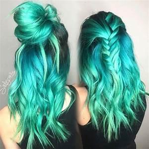 Ombré Hair Turquoise