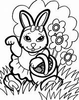 Coloring Pages Bunny Printable sketch template