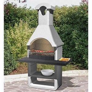barbecue fixe barbecue beton barbecue en pierre leroy With peinture pour barbecue beton