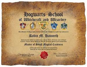 pin by casey cornett on misc pinterest With hogwarts certificate template