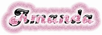 Amanda Glitter Graphics Names Text Rose Pink