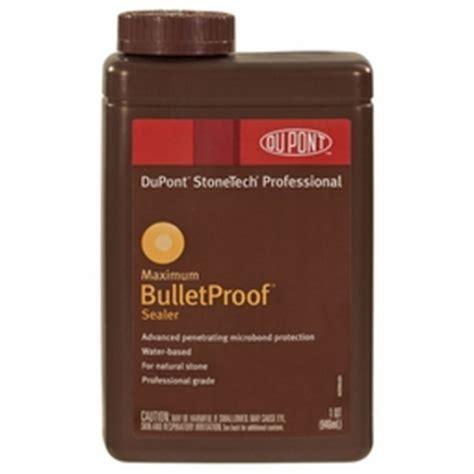 bulletproof sealer dupont stonetech pro maximum bulletproof sealer 1 quart floor decor