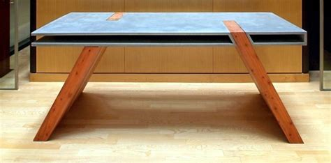 Table made of wood and concrete reveals new trends in furniture design   Interior Design Ideas