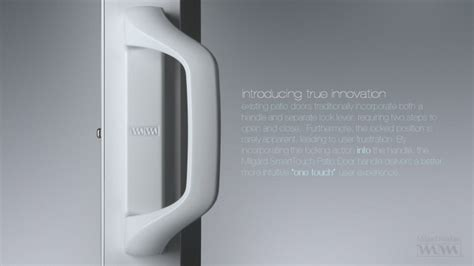 milgard smarttouch sliding glass door handle by tim