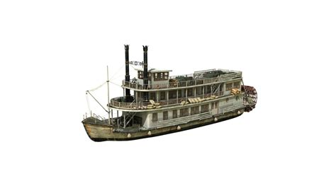 Steam Boat Model by Steamboat 3d Model Obj Fbx Ma Mb Cgtrader