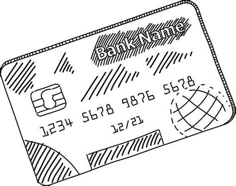 royalty  credit card sketch black  white drawing
