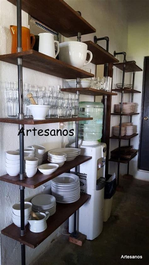 estanterias canos de fontaneria  maderas importadas