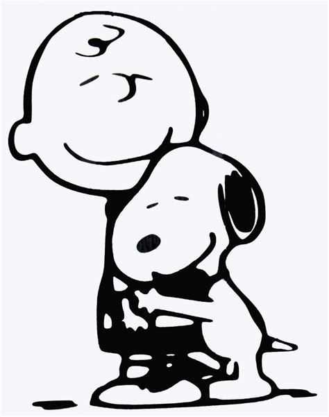 snoopy valentines day clipart black and white brown and snoopy hug diecut decal