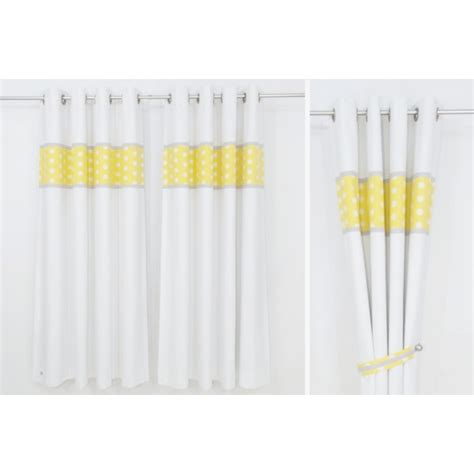 grey yellow white nursery curtains