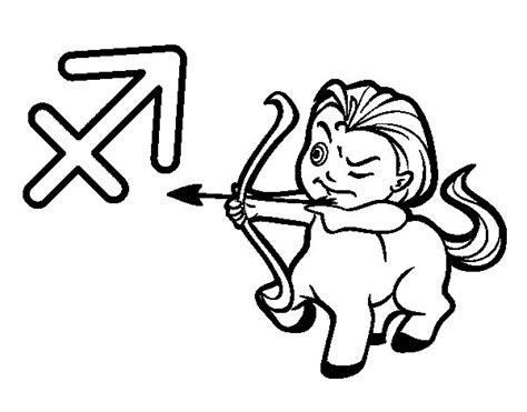 sagittarius color sagittarius horoscope coloring page coloringcrew