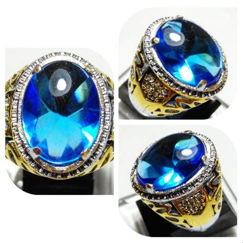 jual cincin batu akik blue safir saphere oval chobochon di lapak yuqi galery dicky1991