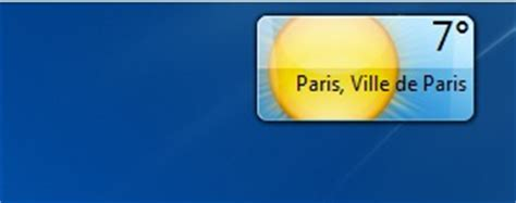 meteo bureau comment installer la météo sur bureau windows 7