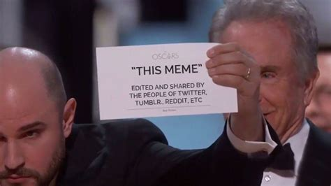 Memes Oscar - 14 tweets that prove the best picture card for quot moonlight quot is our favourite oscars popbuzz