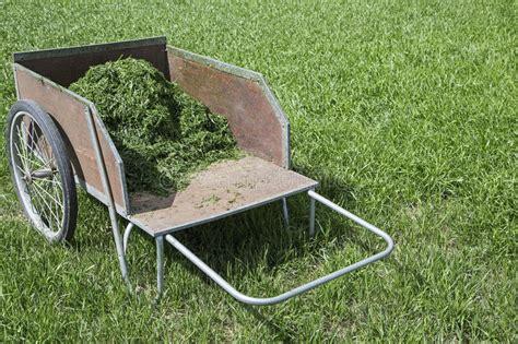 2 wheel garden cart garden cart grass clippings stock photo image of lawn 3824