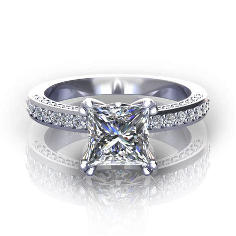 princess cut engagement rings jewelry designs