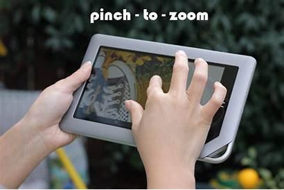 Nook Tablet Pinch Zoom