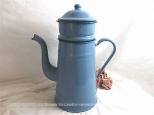 Cafetiere A L Ancienne : vendu cafeti re ancienne maill e bleu clair avec liser ~ Premium-room.com Idées de Décoration