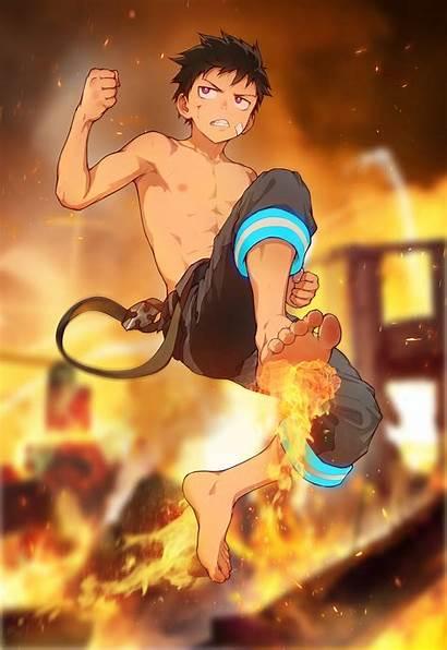 Shinra Kusakabe Wallpapers Anime Force Fire Fanart