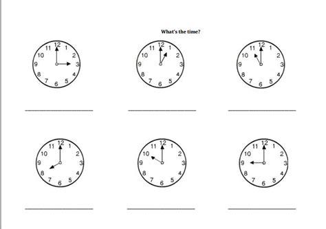 que hora es worksheet worksheets for all and