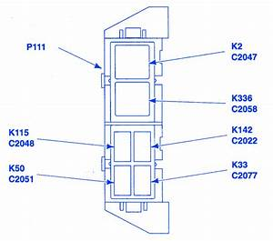 Ford Ranger Xlt 2001 Auxiliary Relay Fuse Box  Block Circuit Breaker Diagram
