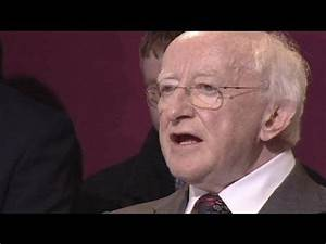 Poet Higgins becomes Ireland's ninth president - YouTube